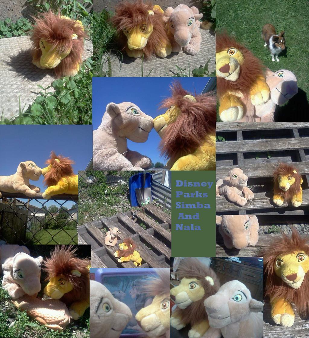 Disney parks Adult Simba and Nala by Heatherannpt