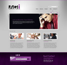 AGI website layout by champchoel
