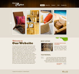 Dunia Rotan Web Layout by champchoel