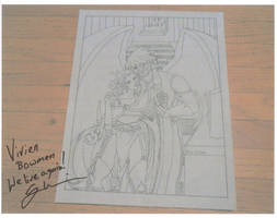 Vivi Bowman Picture Signed by Greg Weisman