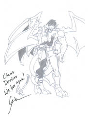 ChaosDestine Picture Signed by Greg Weisman