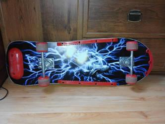 Skateboard Delorean BTTF by VaanDark