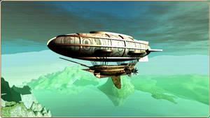 Dirigible Airship by Miritalner