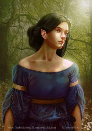 Luthien's gaze by Leone-art