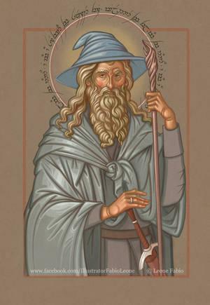 Gandalf, servant of the Secret Fire by Leone-art