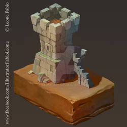 Isometric castle ruins