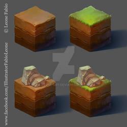 Isometric Earth Cube