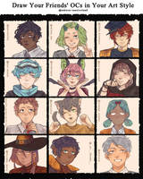 Draw your friends' ocs in your style challenge(s) by Sakurai-sanxIceland