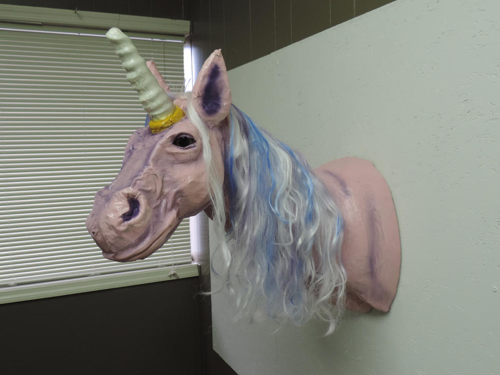 Paper mache unicorn by lordnightbane on deviantart for Finishing paper mache
