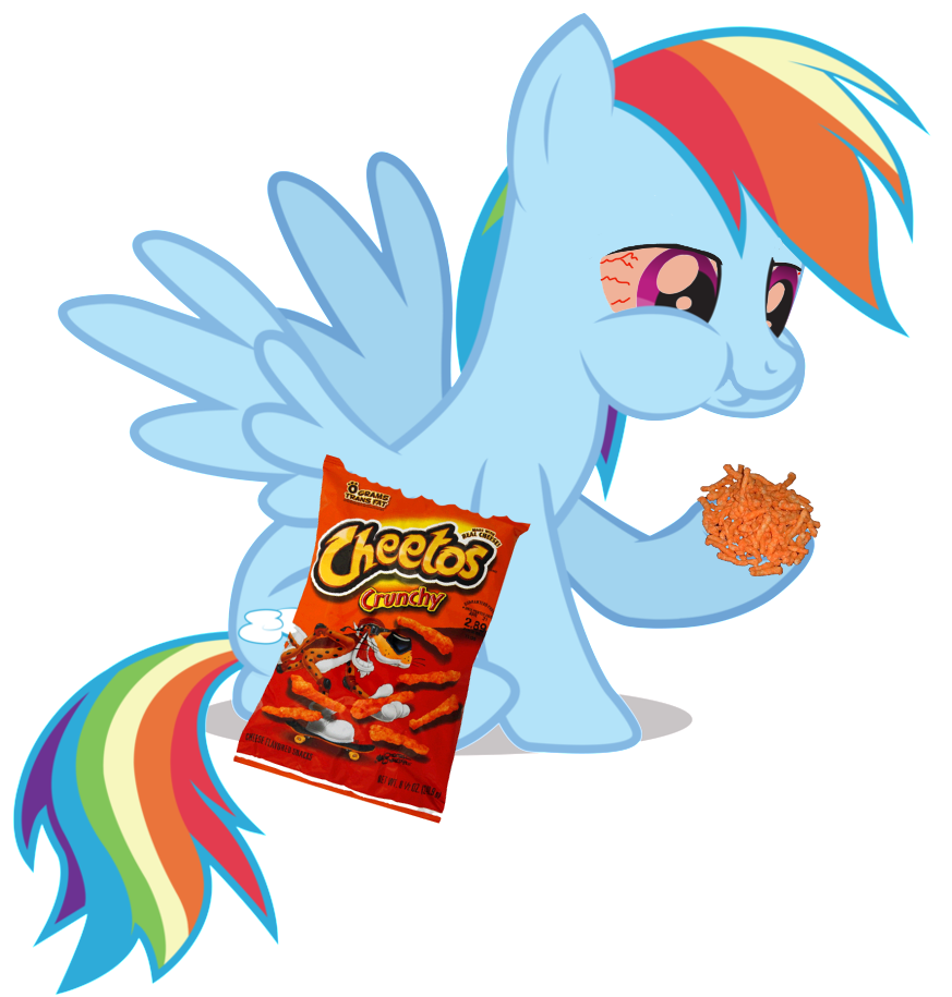 Rainbowdash is hungry by PaulTorsynoCobnik