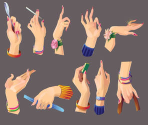 Hands Stock by alenaswan