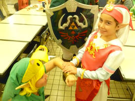 Young Link Meets His Princess for the First Time by Linksliltri4ce