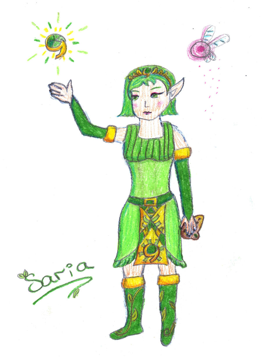 Saria - Princess Redesign by Linksliltri4ce