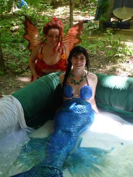A Red Fairy Meets A Blue Mermaid