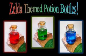 For Sale!  Zelda Themed Potion Bottles by Linksliltri4ce