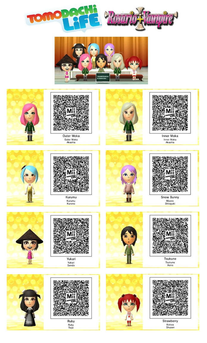 Tomodachi Life - Rosario + Vampire 3DS by Linksliltri4ce
