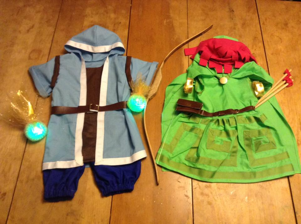 Clash of Clans Baby Cosplays - Wizard and Archer by Linksliltri4ce