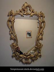 Baroque Style Mirror-Stock