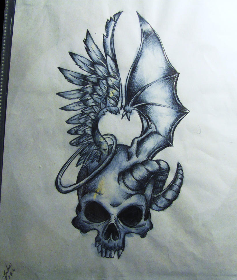 Tattoo Designs Evil: Good And Evil.. By Darxen On DeviantArt