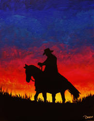 Cowboy Sunset. by Darxen