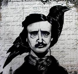 Edgar Allan Poe. by Darxen