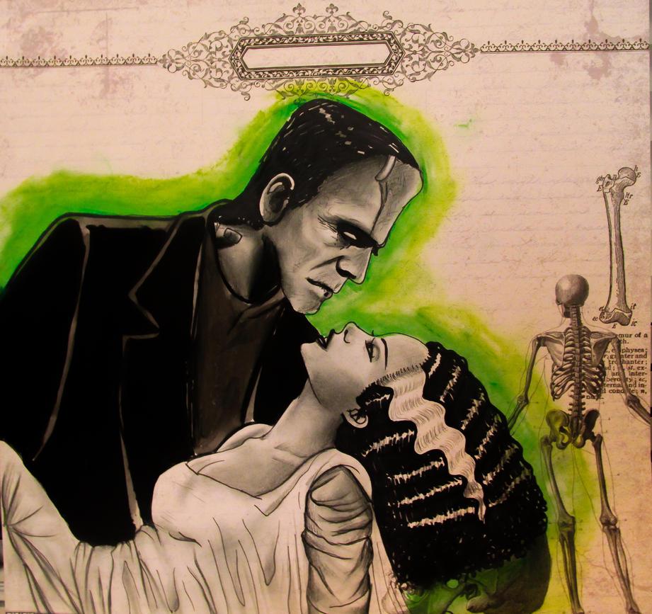 Frankenstein and his Bride. by Darxen