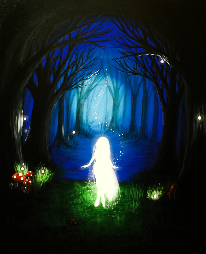 White Nymph of the Blue Forest. by Darxen