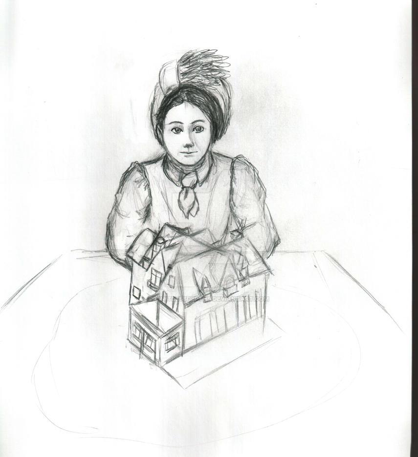 Julia Morgan and Stonedene -sketch- by LimitlessDepths