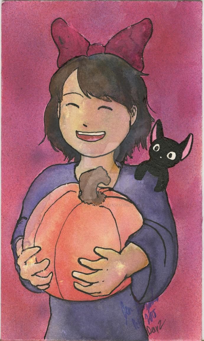 Inktober - Day 2: Kiki's Autumn Fun Times by LimitlessDepths