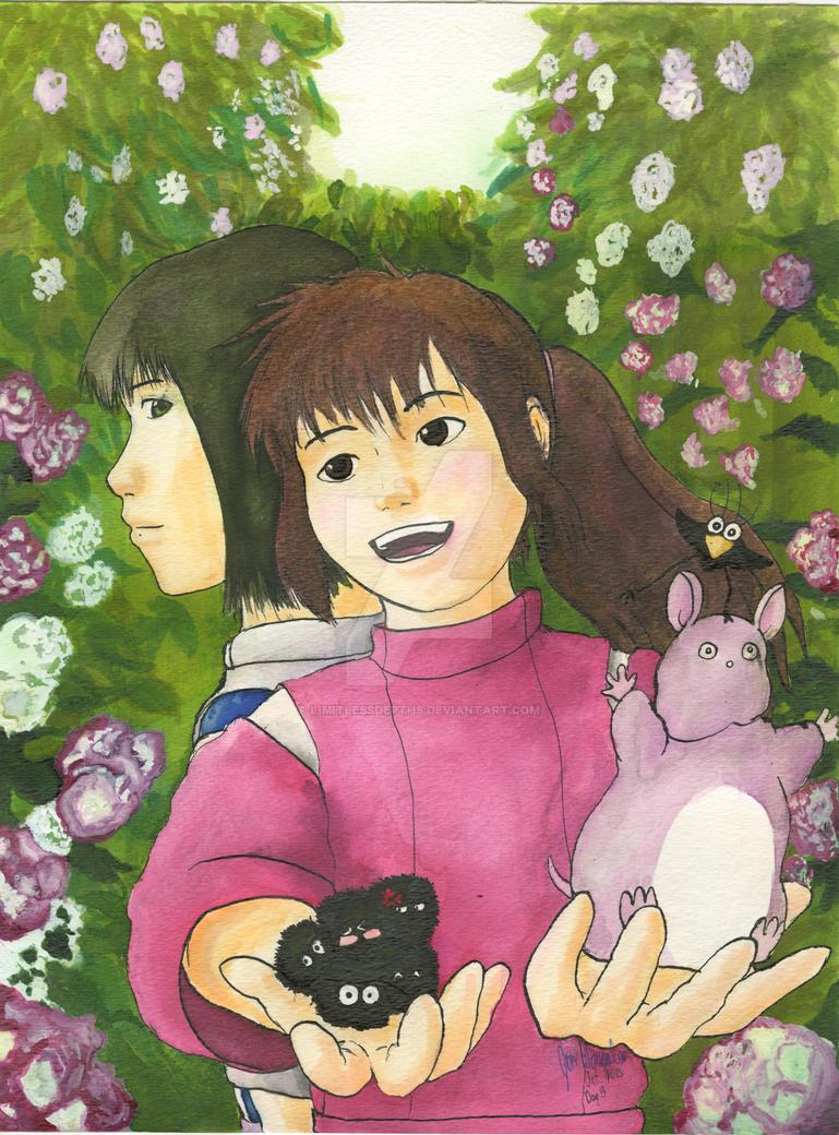 Inktober - Day 3: Chihiro's Friends by LimitlessDepths