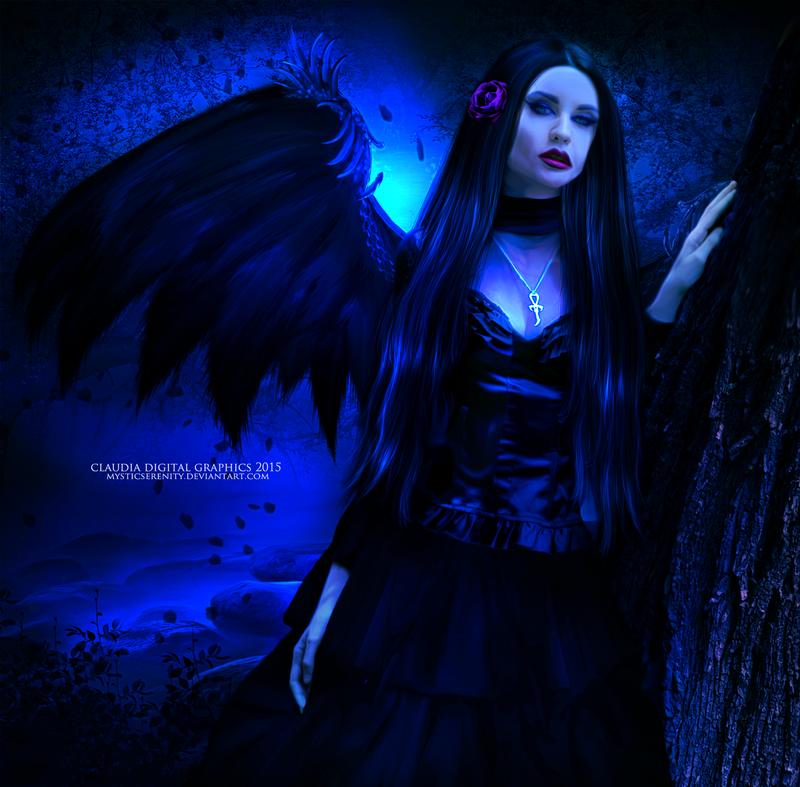 Angel in the Dark by MysticSerenity
