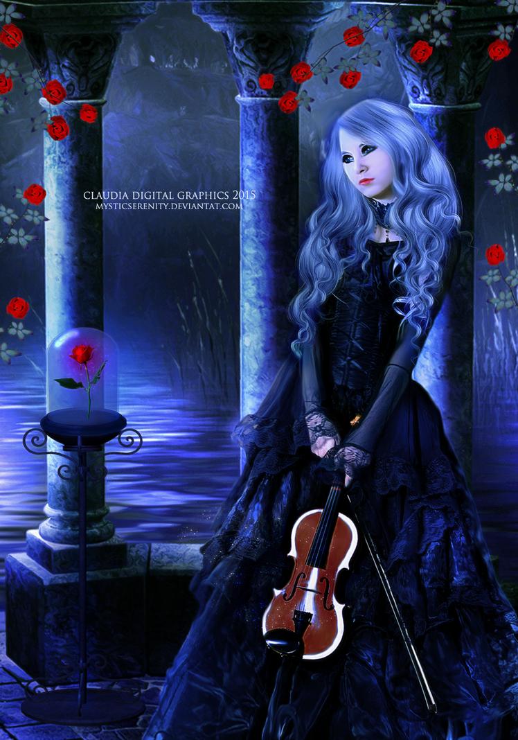 Melancholic Rose by MysticSerenity