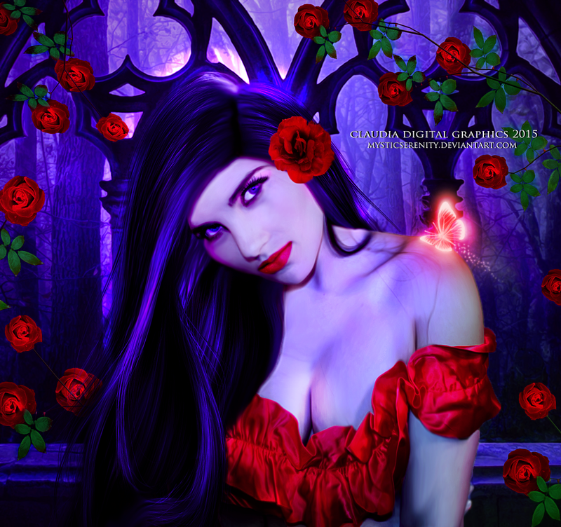 The Charm of the Roses by MysticSerenity