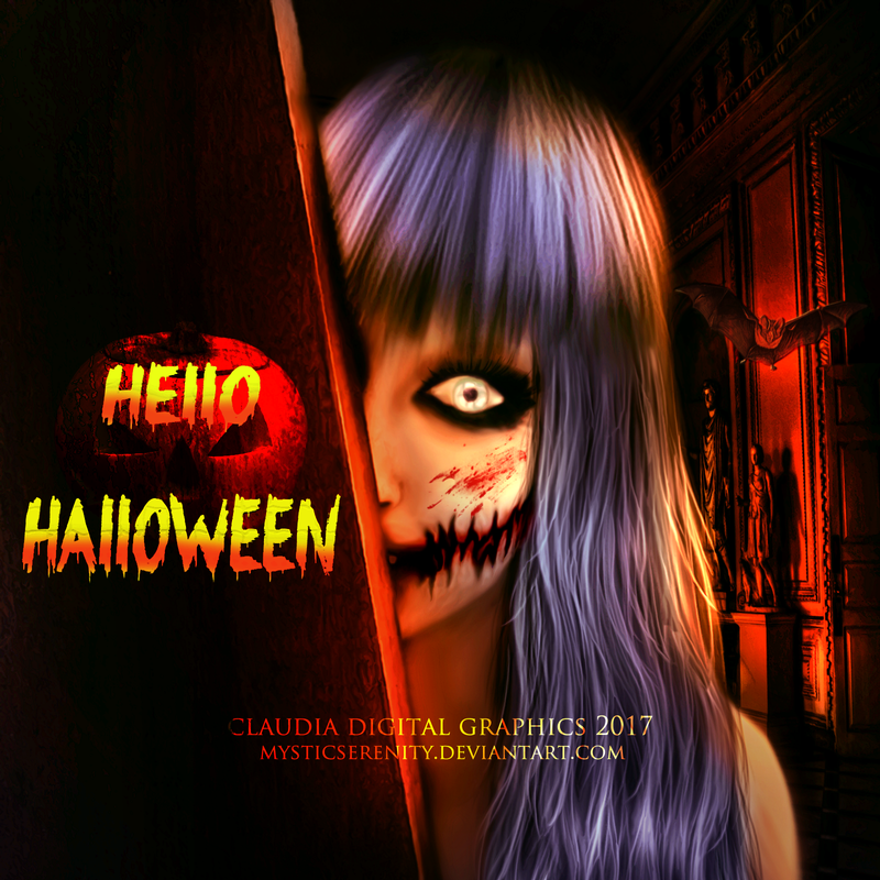 Hello Halloween by MysticSerenity