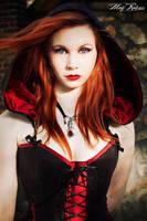 Suedine hooded corset by Esaikha