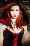 Suedine hooded corset