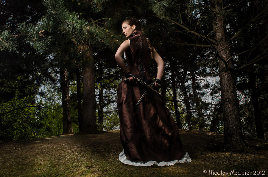 Steampunk corset and dress - 2012 collection by Esaikha