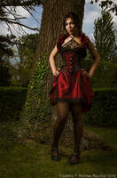 Taffeta underbust corset dress 2011 collection by Esaikha