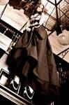 Underbust silver corset dress 2012