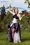 White underbust corset dress 2012 collection