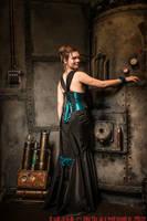 Turquoize underbust corset dress 2012 collection ' by Esaikha