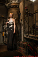 Silver underbust corset dress 2012 collection by Esaikha