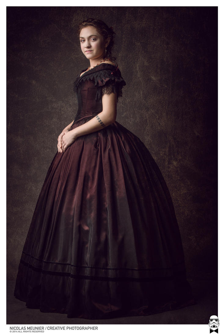 1850 Ball gown with walking cage by Esaikha