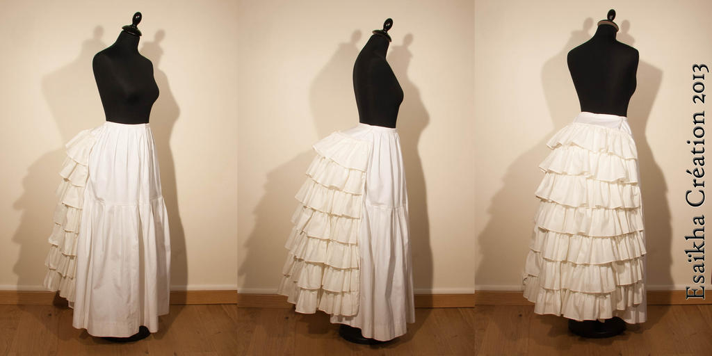 Petticoat with wire bustle by Esaikha