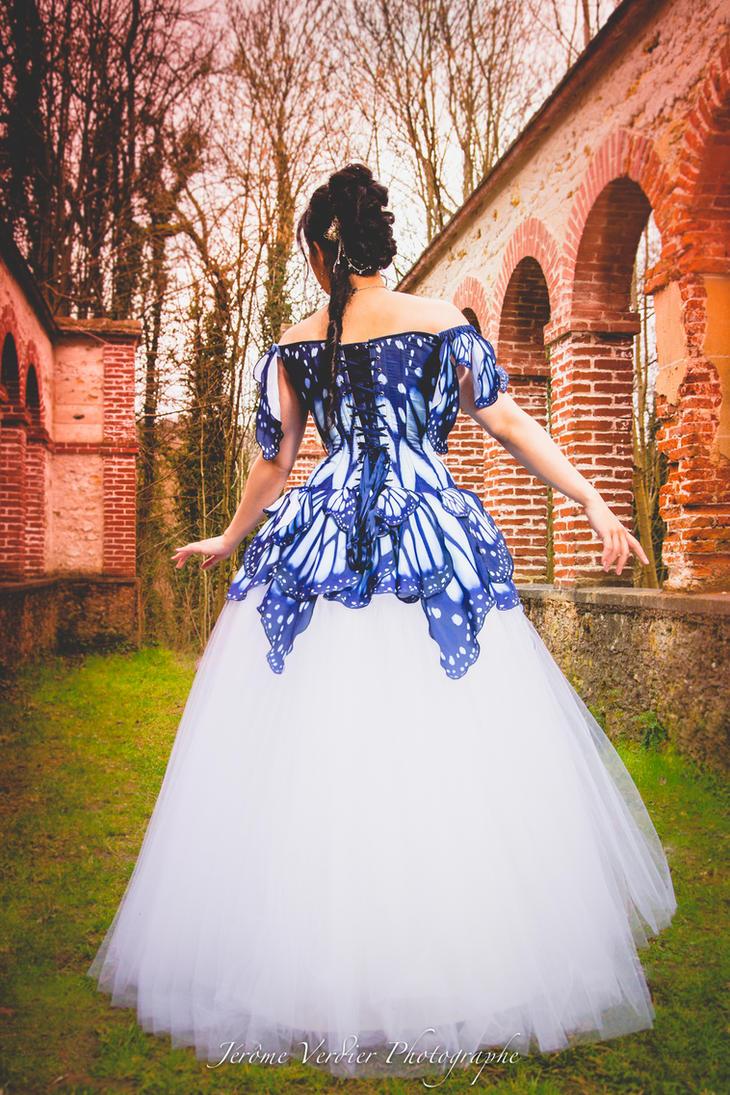 Butterfly corset dress by Esaikha
