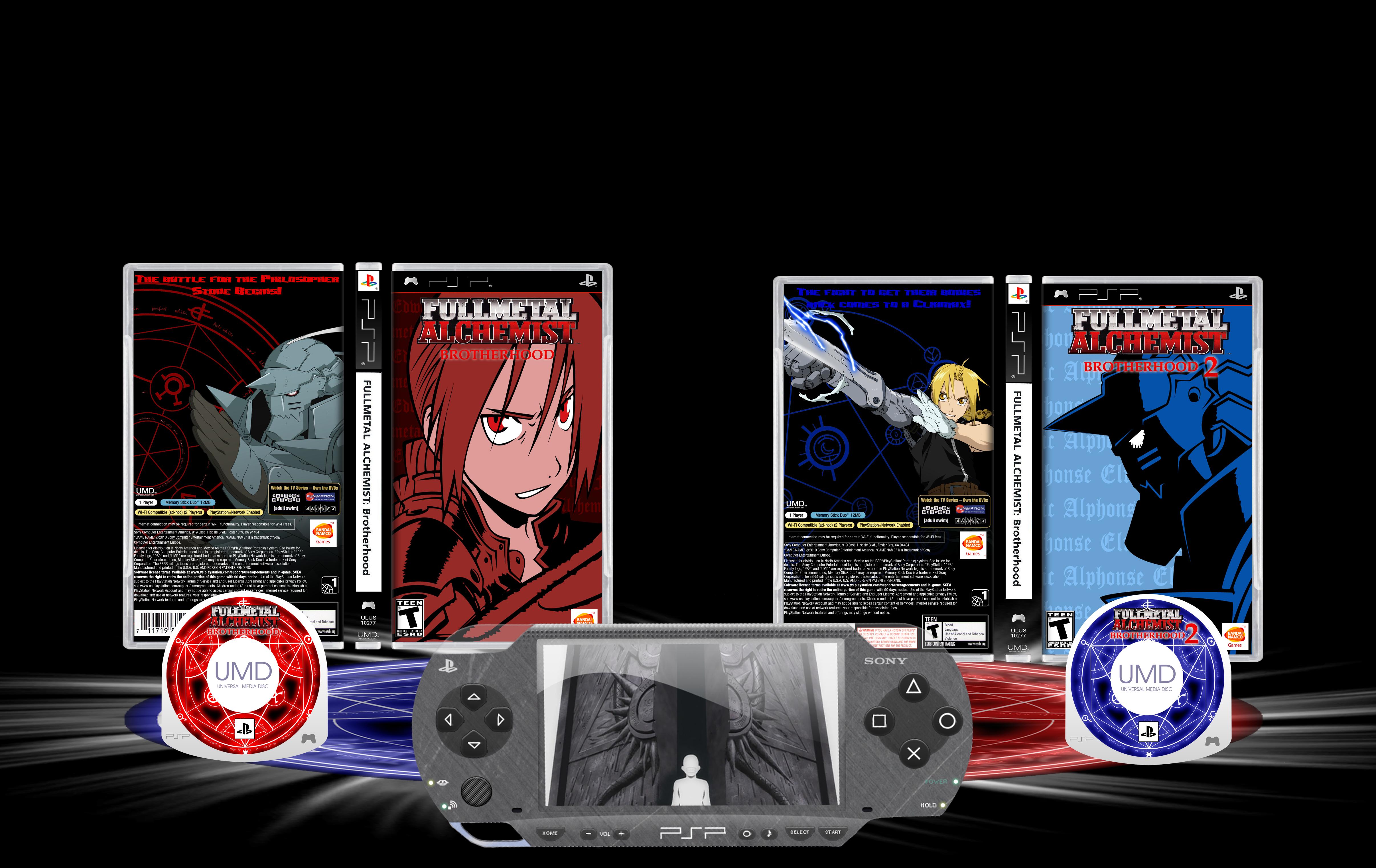 Fullmetal Alchemist Brotherhood PSP - VGBoxArt by Demi ...