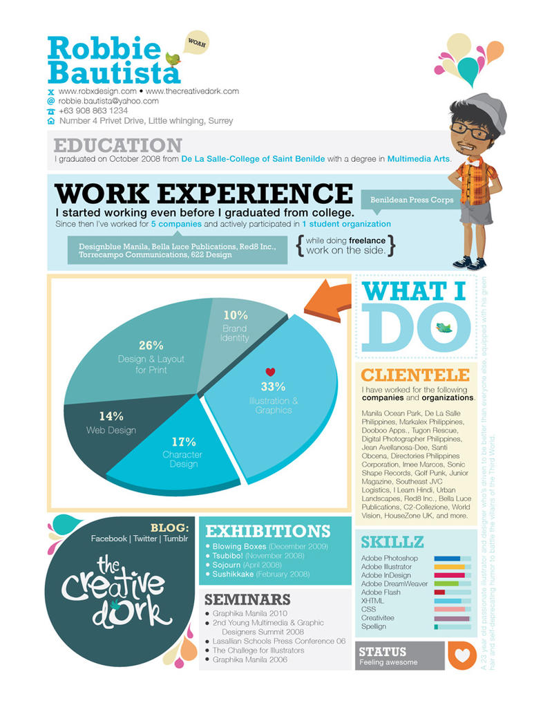 Resume   The Creative Dork By Pyrotensive ...  Creative Resume Examples