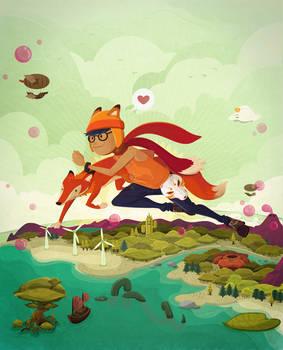 One Leap Wander