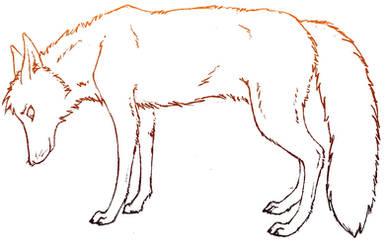 Sad Fox by ariastrife
