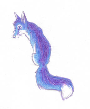Blue and Purple Fox